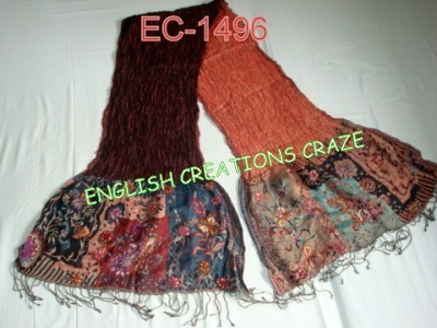 Wool Lycra with embroidery Scarves