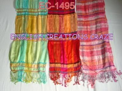 Wool Lycra jacquard Scarves