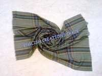 Wool Check and  Stripe Scarves