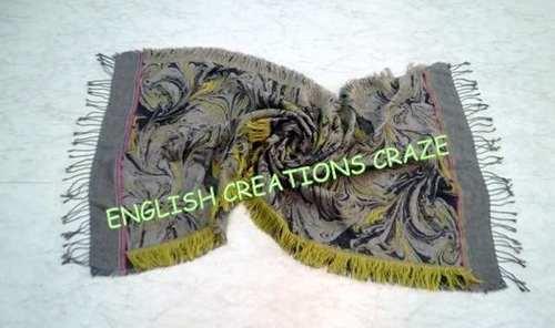 Wool Polyester Melange Woven Scarves