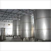 Vertical Milk Storage Tank