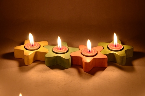 Decorative GRC Candle Holder