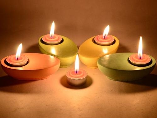 Kappa Concrete Candle Holder