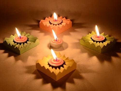 Light  Concrete Candle Holder