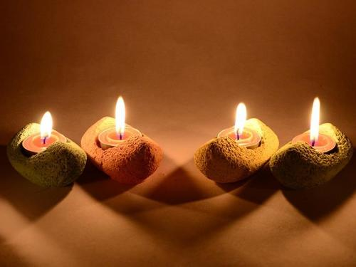 Home Decor Concrete Candle Holder