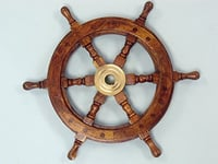 "12""Ship Wheel Boat Steering Wheel Wall Decor"