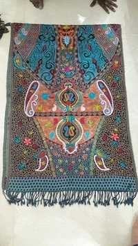 Designer Boiled Wool Embroidery Shawl
