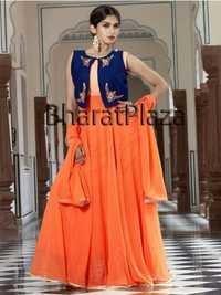 Orange Anarkali Suits
