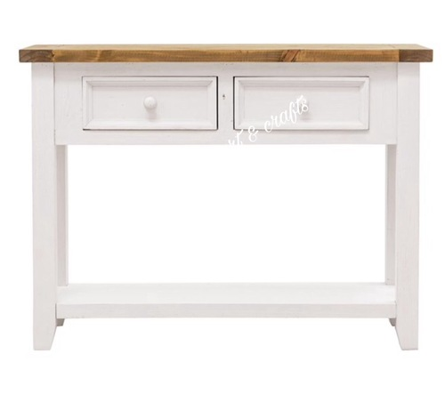 WOODEN CONSOLE COFFEE TABLE 2 DRAWERS
