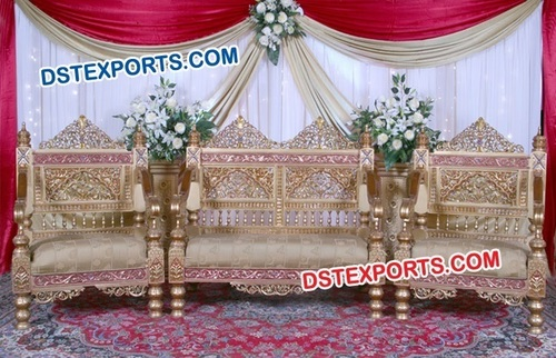 Handcarved Teak Wood Wedding Furniture