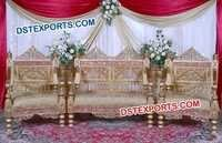 Handcarved Teak Wood Wedding Furniture