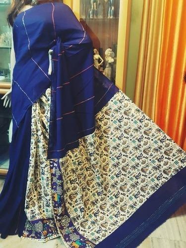 Khesh Gurjari Blue Saree