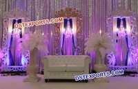 Bollywood Wedding Stage Backdrop