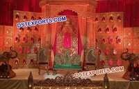 Rajasthani Rajwada Wedding Stage Backdrop