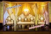 Metal Crystal Wedding Stage