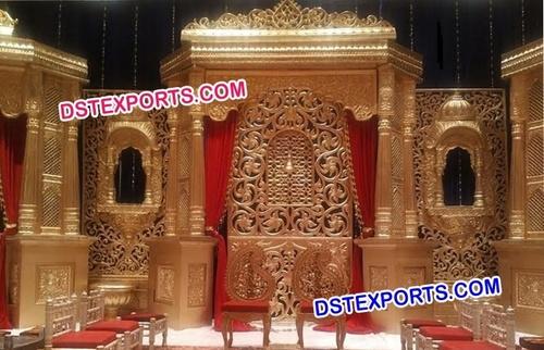 Rajasthani Jharokha Fiber Panel Stage