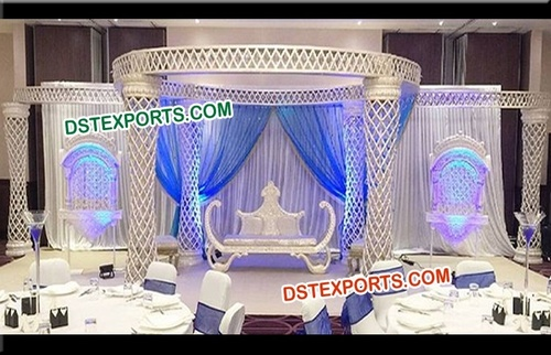 Diamond Cut Wedding Fiber Crystal Mandap