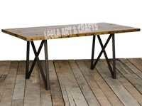 INDUSTRIAL TABLE WITH CROSS 4 LEGS