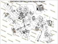 139F Foure stroke Engine Parts