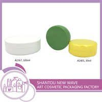 Plastic Packaging of Cosmetic Sectors Empty Cream Jar Container with Screw Cap