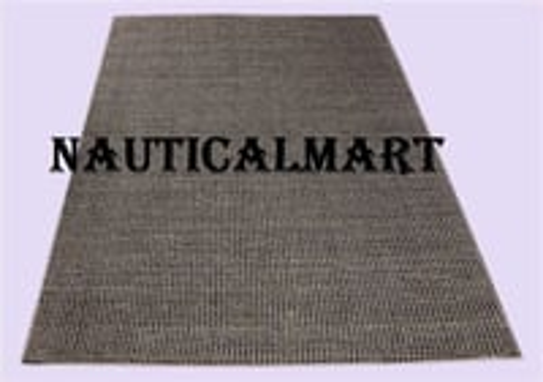 Nautical Grey Handloom Iranian Wool Carpet For Home Decor