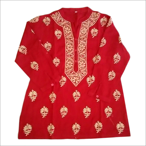 Chikan Embroidery Georgette Tops
