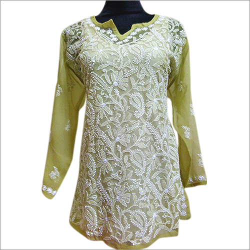 Chikan Embroidered Top
