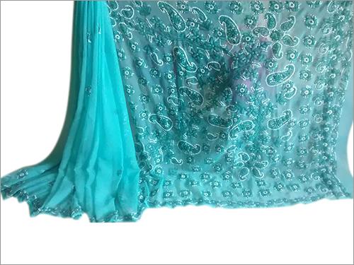 Chikan embroidery Elegant Georgette Sarees