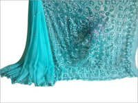 Chikan embroidery Elegant Georgette Sarees