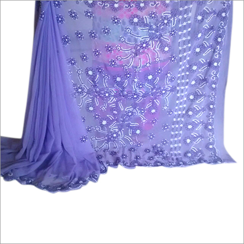 Chikan Embroidery Traditional Georgette Sarees