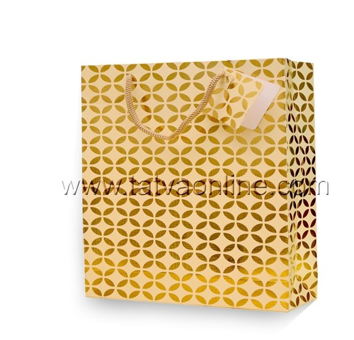 Decorative Golden Paper Bag