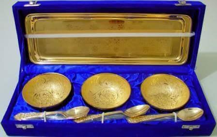 Golden Katori Set 7 Pcs