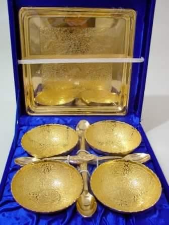 Golden Katori Set 9 Pcs