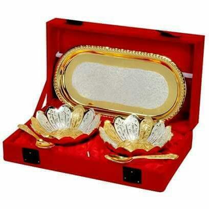 Golden Katori Set 5 Pcs