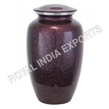 Purple Aluminium Urns