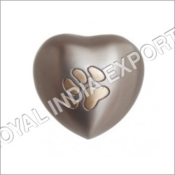 Pewter Paw Heart urn