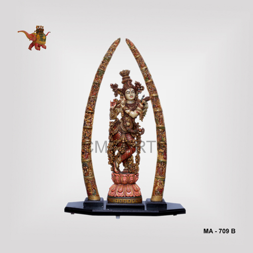 Cultured Marble Krishna With Tusk