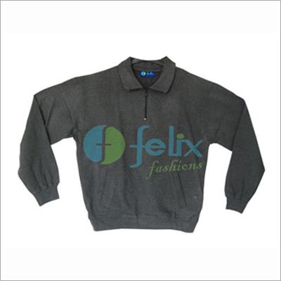 Coloured Zipper Sweatshirt