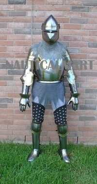 Medieval Halloween Costume Knight King Jousting Suit Of Armor