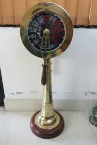 Ship Engine Telegraph 36'' Collectible With Wooden Base Functional Ring