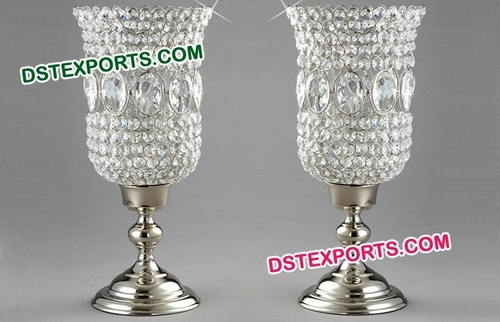 Beaded Crystal Candle Holder