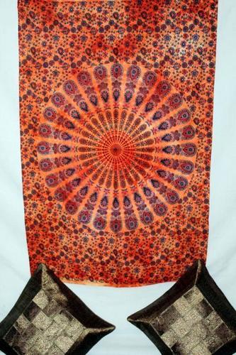 Ethnic Circular Mandala Cotton Tapestry