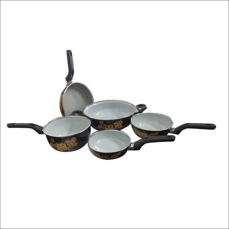 5 Piece Enamel Cookware Set