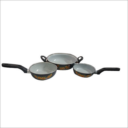 3 Piece Enamel Cookware Set