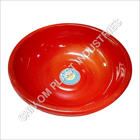 Red Plastic Basin