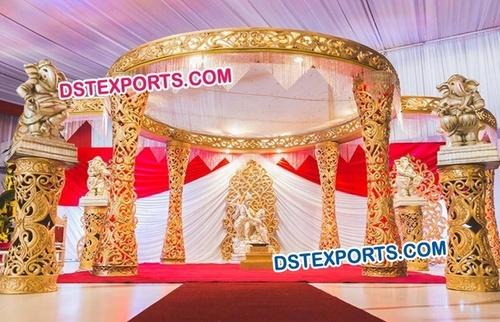 Golden Royal Designer Wedding Mandap