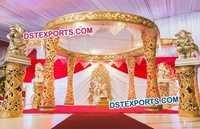 Golden Royal Designer Wedding Mandap