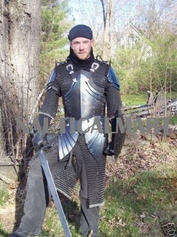 Medieval Knight Half Plate Armor Shield Sca Lotr Larp