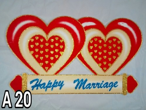 Marriage Thermocol Board