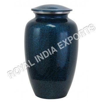 Blue Aluminum Urns